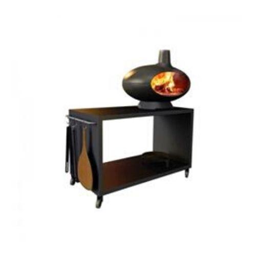 forno garden a legna morso in ghisa, piano fuoco in refrattario