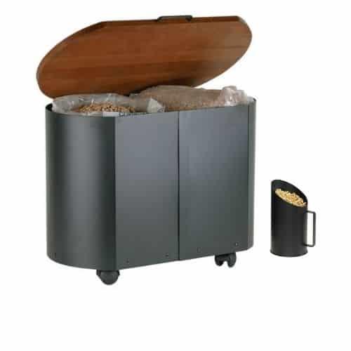 porta pellet o legna con brocca