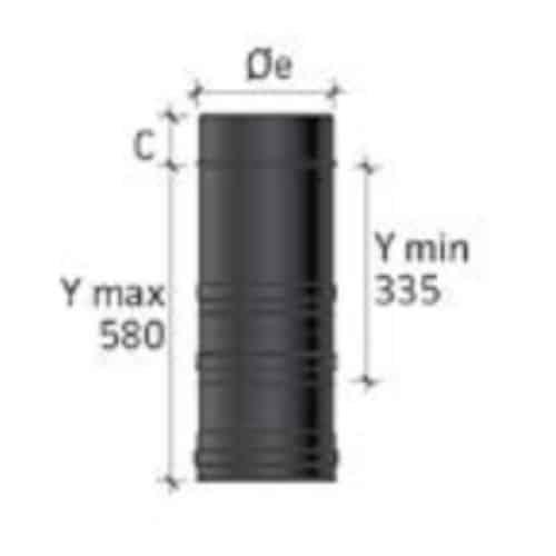 tubo telescopico condotto fumi stufe a pellet