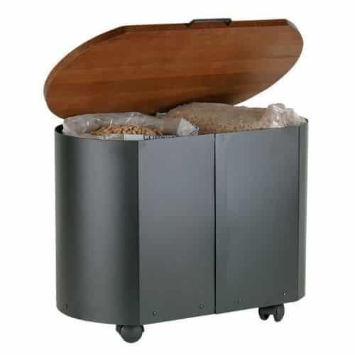 contenitore per legna o pellet
